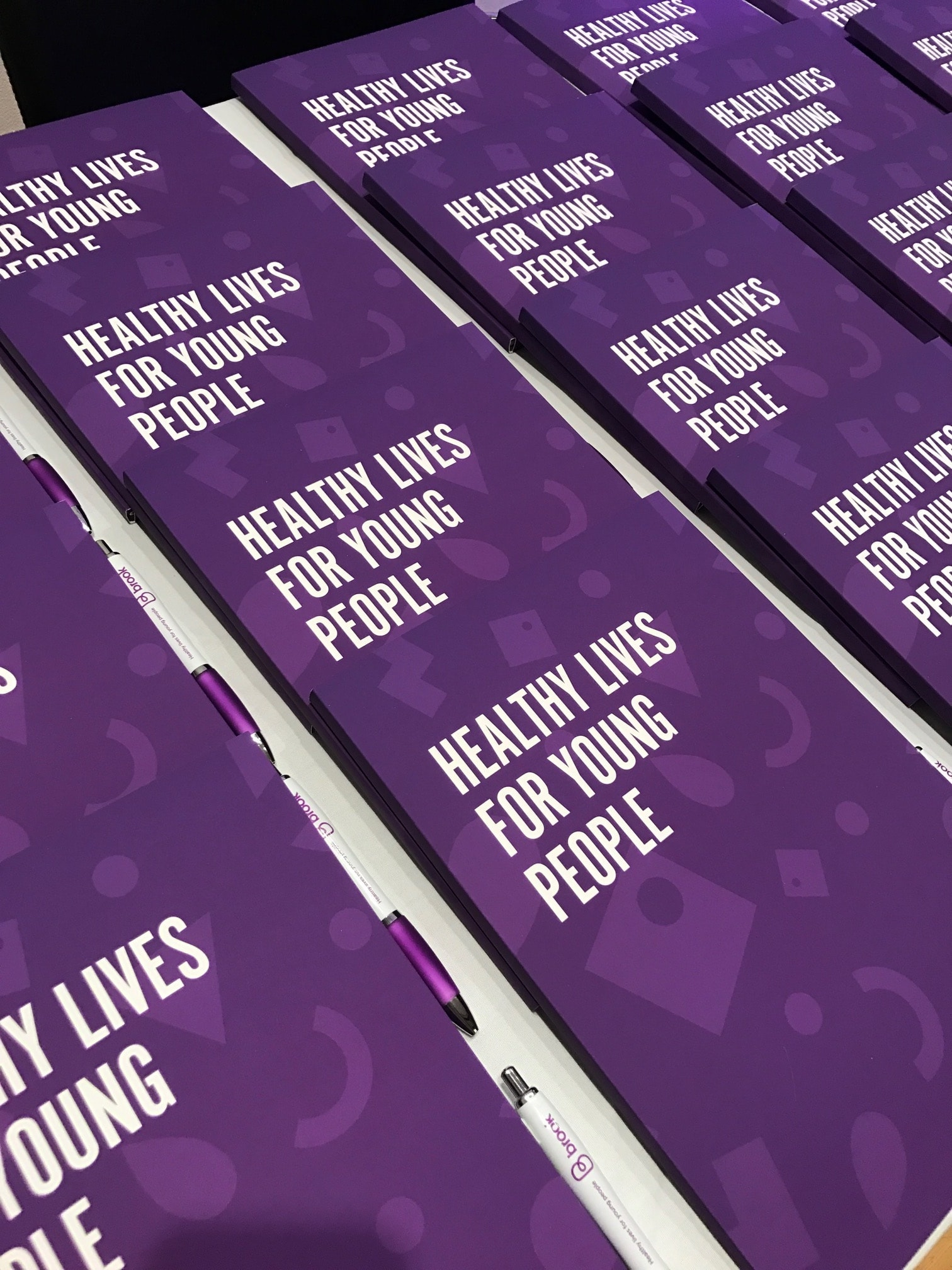 Brook folders with Healthy Lives for Young People tagline