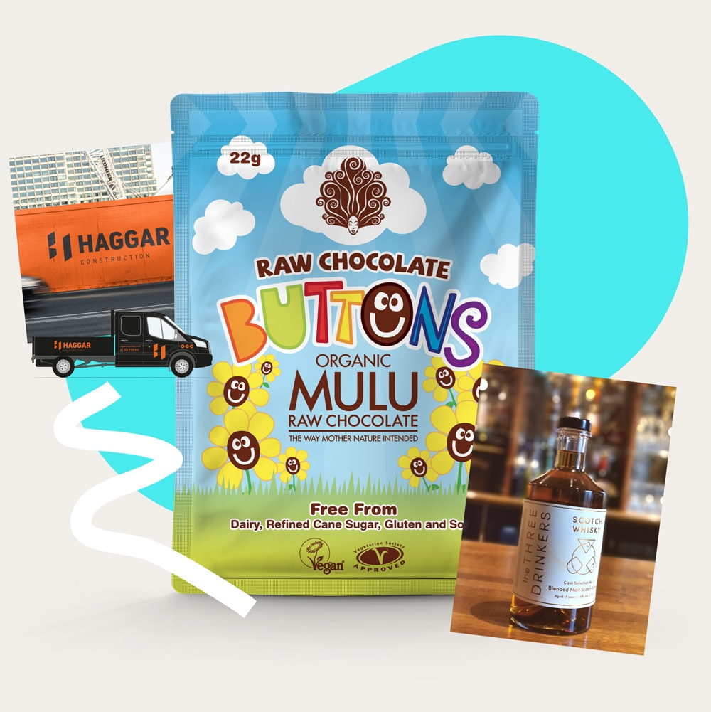 Chocolate buttons packaging designed by 6rs.