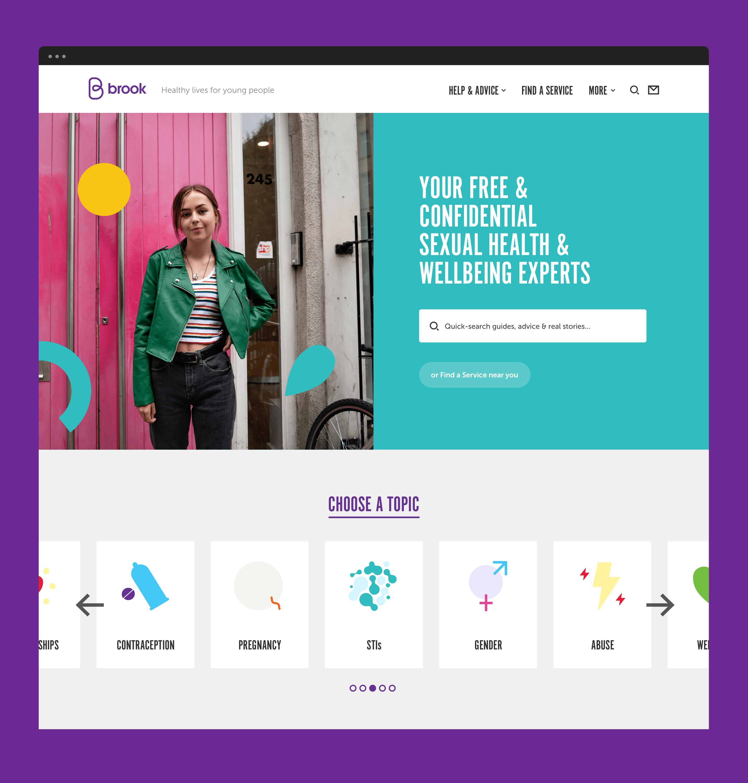 Brook website homepage design